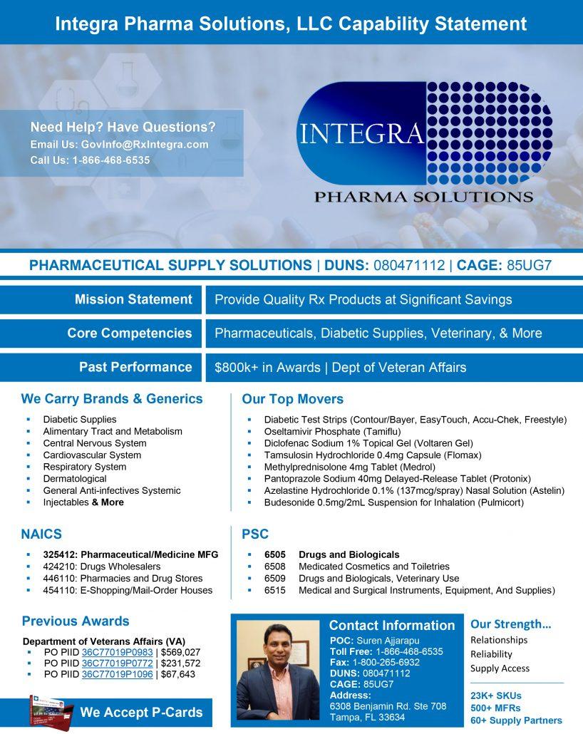 Integra Pharma Solutions Capability Statement